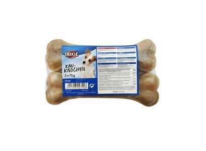 Trixie 2 Ossi Da 15cm Snack Per Cani Osso Masticabile Pelle Bovina