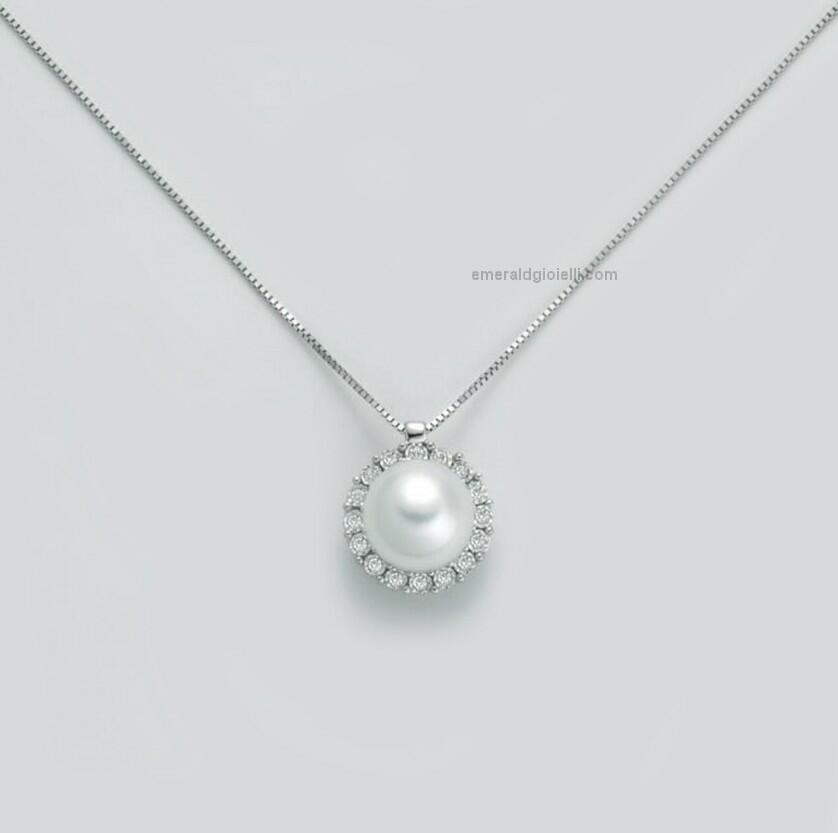 pcl5748 Girocollo con perla e Diamanti Miluna -