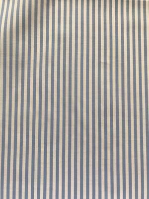 Cotone con righe azzurre