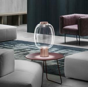 Lampada da Tavolo RIFLESSO LT2 in Vetro Trasparente di Vetreria Vistosi, Varie Finiture - Offerta di Mondo Luce 24