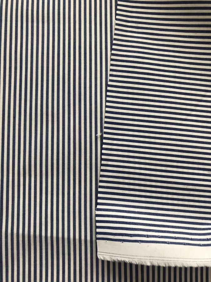 Cotone con righe blu