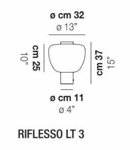 Lampada da Tavolo RIFLESSO LT3 in Vetro Trasparente di Vetreria Vistosi, Varie Finiture - Offerta di Mondo Luce 24