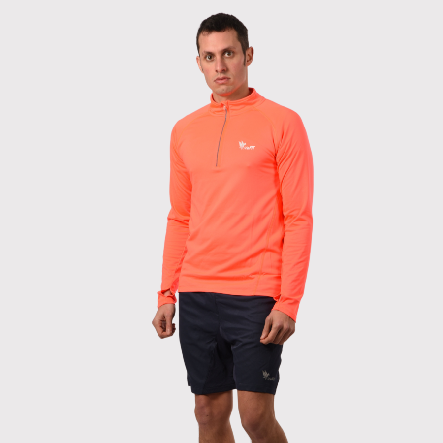 Outdoor Tech Hoodie (Man- Fluo Coral)