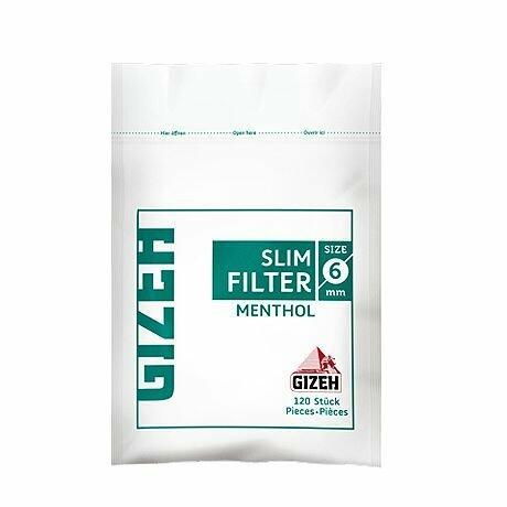 FILTRI GIZEH MENTOLO 6mm SLIM IN BUSTA PZ 10X120
