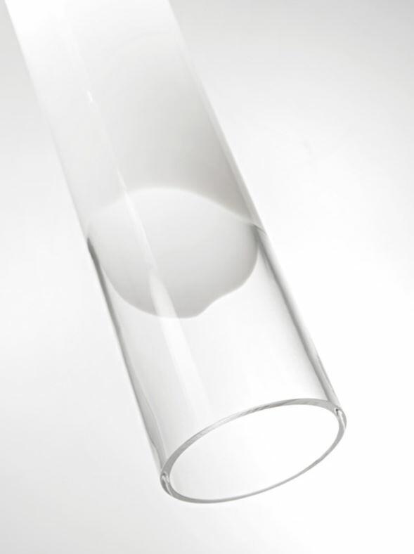 Lampada a Sospensione LIO in Vetro Bianco e Cristallo Trasparente di Vetreria Vistosi, Varie Misure - Offerta di Mondo Luce 24