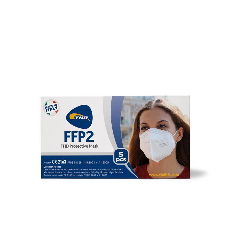 THD Mascherina FFP2  - confezione da 25 mascherine (5 conf. da 5 mascherine)