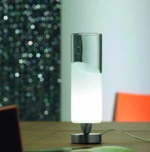 Lume LIO in Vetro Bianco e Cristallo Trasparente con base in Metallo di Vetreria Vistosi - Offerta di Mondo Luce 24