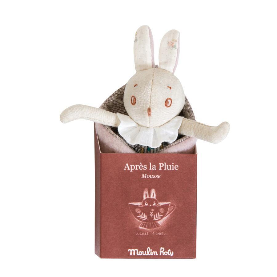 Après la Pluie - Bebè Coniglietto con sua foglia Mousse