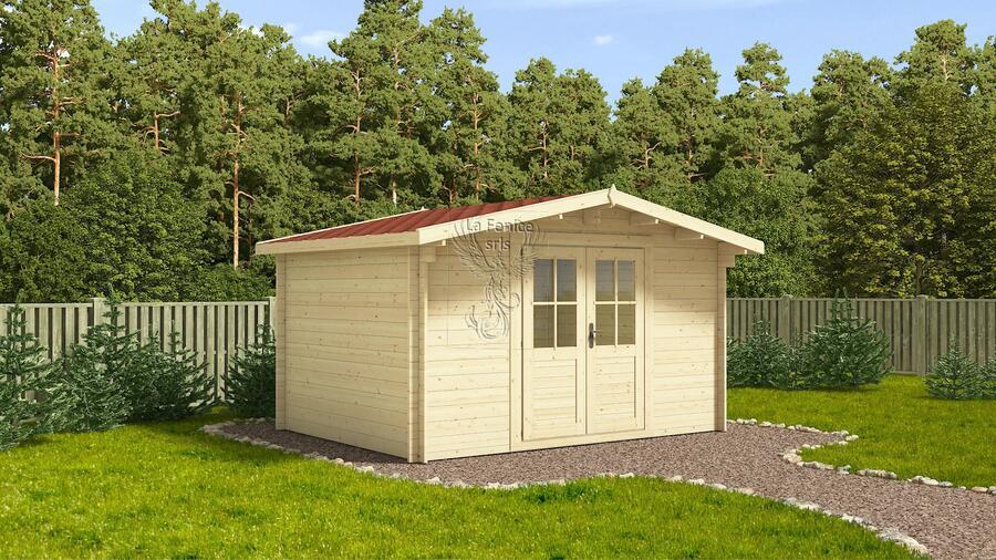 Casetta in legno 4,00 m x 4,00 m - Mod. Agnese - 44 mm