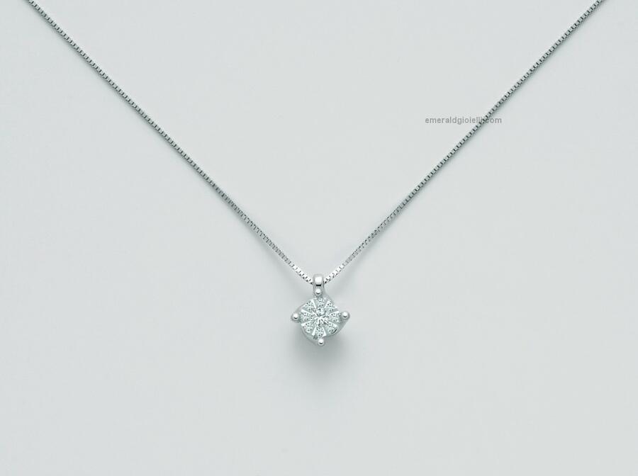 CLD4105 Girocollo con Diamanti centrali Miluna -