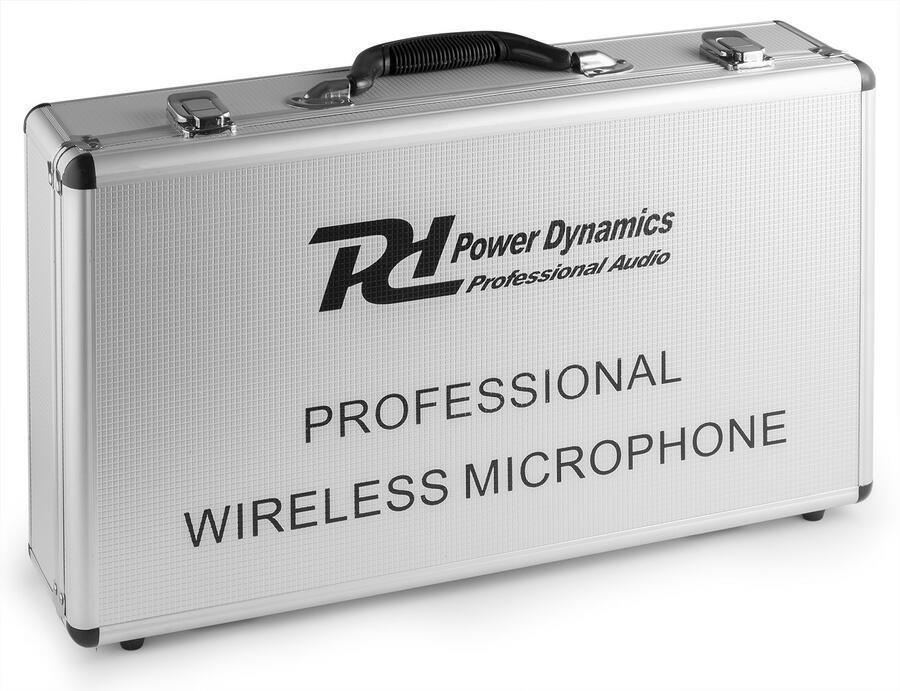 PD504H SET DI MICROFONI WIRELESS UHF 4X 50 CANALI CON 4 MICROFONI PALMARI