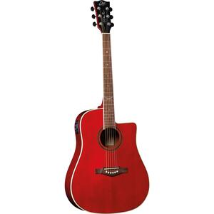 EKO GUITARS - NXT D100CE SEE THROUGH RED
