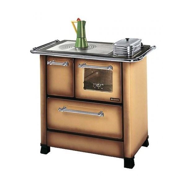 Cucina a Legna Nordica Extraflame Romantica 3,5 Dx Acciaio Porcellanato Potenza Termica Nominale 5 kW 143 m3 riscaldabili Colore Marrone Sfumato