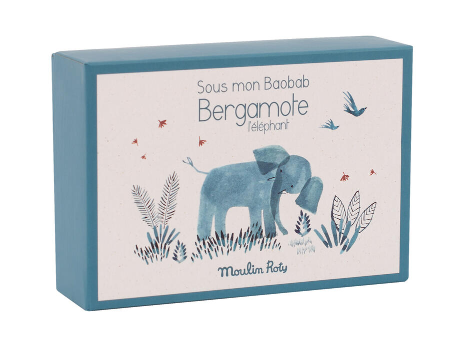 Sous mon Baobab - Scarpine Elefante con scatola 0-6 mesi