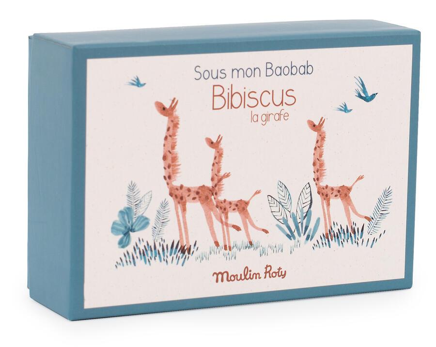 Sous mon Baobab - Scarpine Giraffa con scatola 0-6 mesi