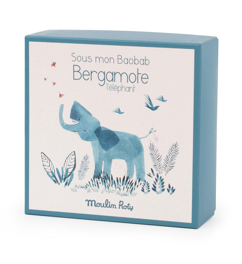 Sous mon Baobab - Doudou porta ciuccio Elefante con scatola