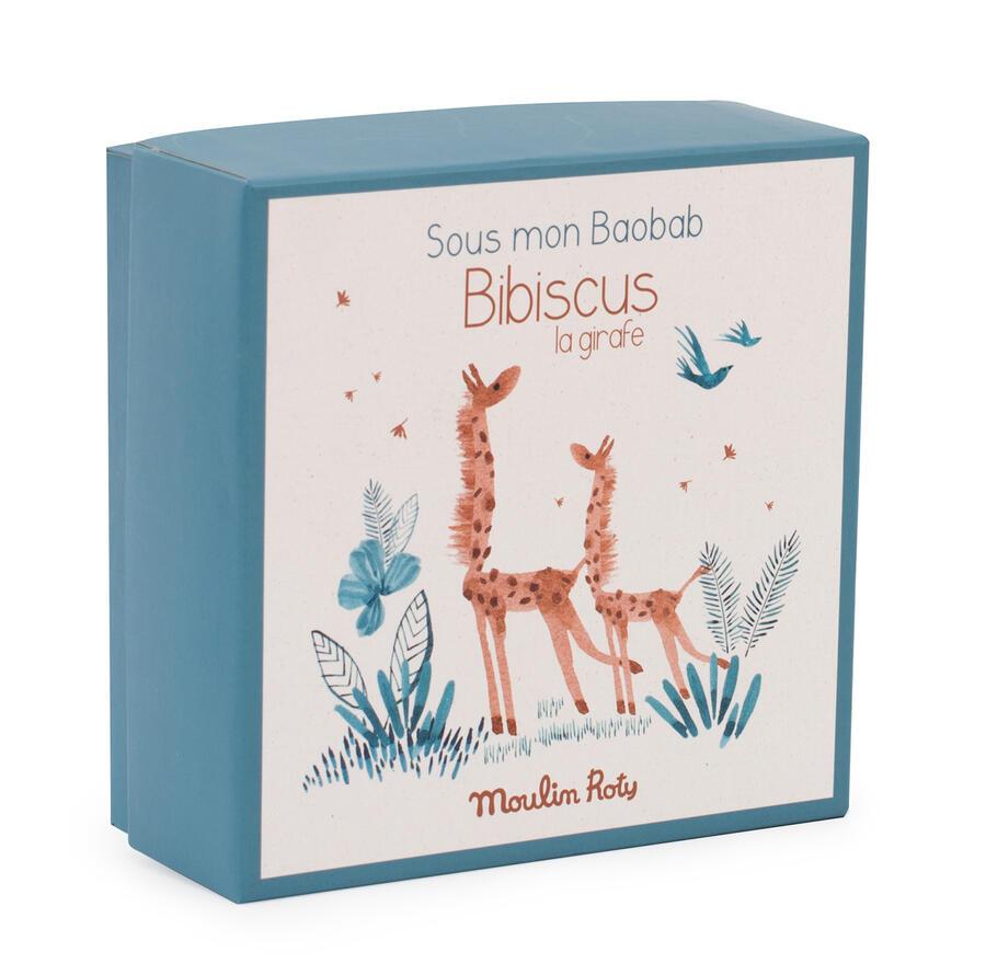 Sous mon Baobab - Doudou porta ciuccio Giraffa con scatola