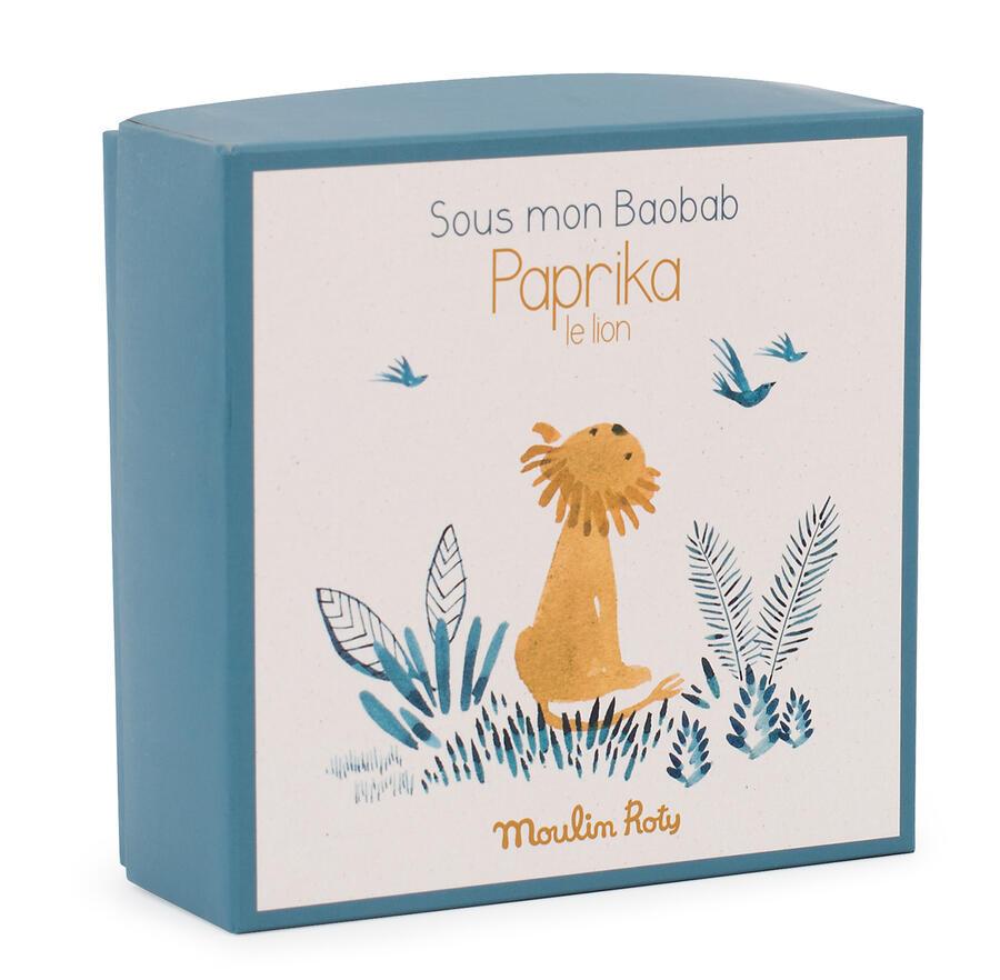 Sous mon Baobab - Doudou porta ciuccio Leone con scatola