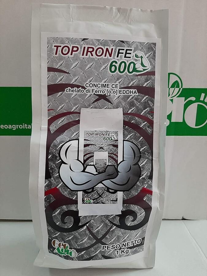 Top Iron Fe 600 chelato di Ferro 6% [0,0] EDDHA 4% conf. 1Kg  CONSENTITO IN AGRICOLTURA BIOLOGICA