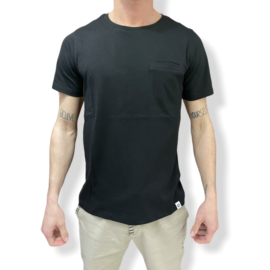 OVER D - T SHIRT TASCHINO NERA