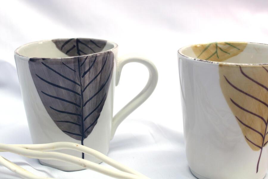 MUG LAMINA FOGLIA CAFFE', OCRA, TABACCO