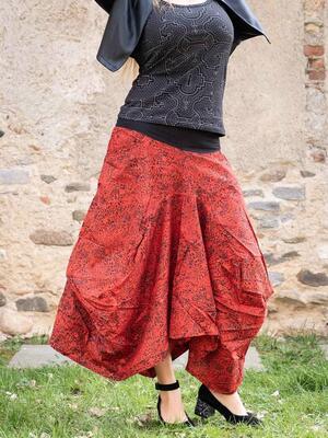 Bag long skirt Dhara - red