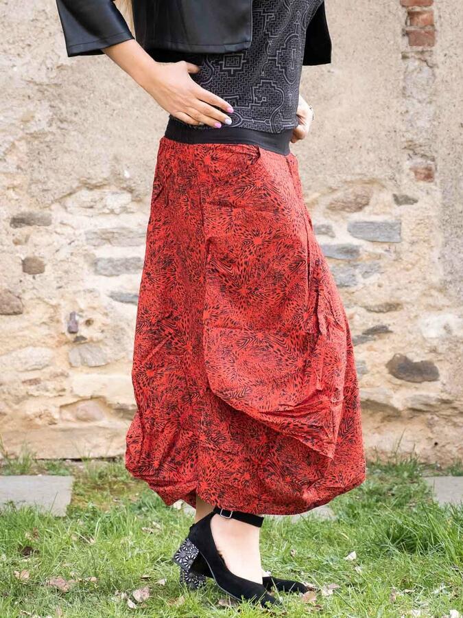 Falda de saco Dhara - rojo