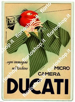 Ducati Sogno - cartolina pubblicitaria - De Giusti, Sanguinetti-anni 50-rarissima!