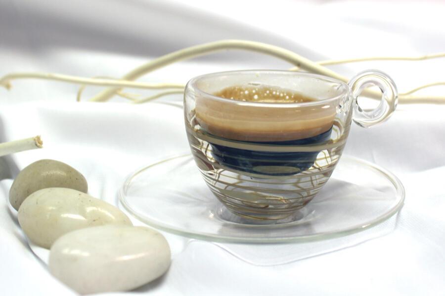 TAZZINE CAFFE' IN VETRO BOROSILICATO