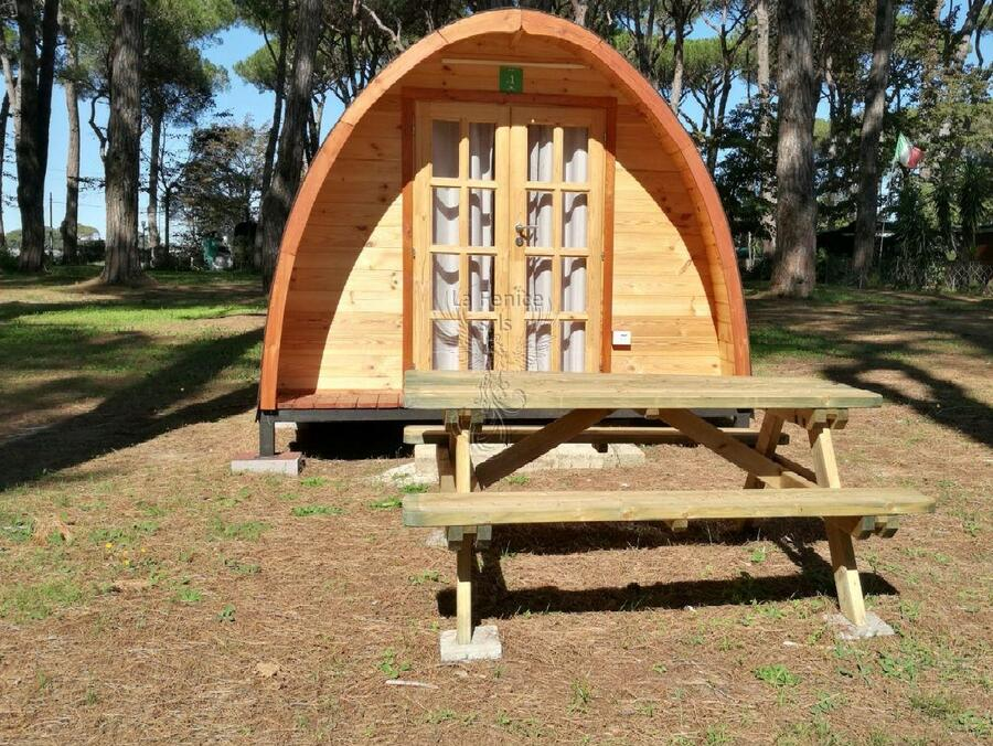 Camping Pod in legno di abete rosso nordico Mod. Roxana 4,00 x 4,00 - 44mm