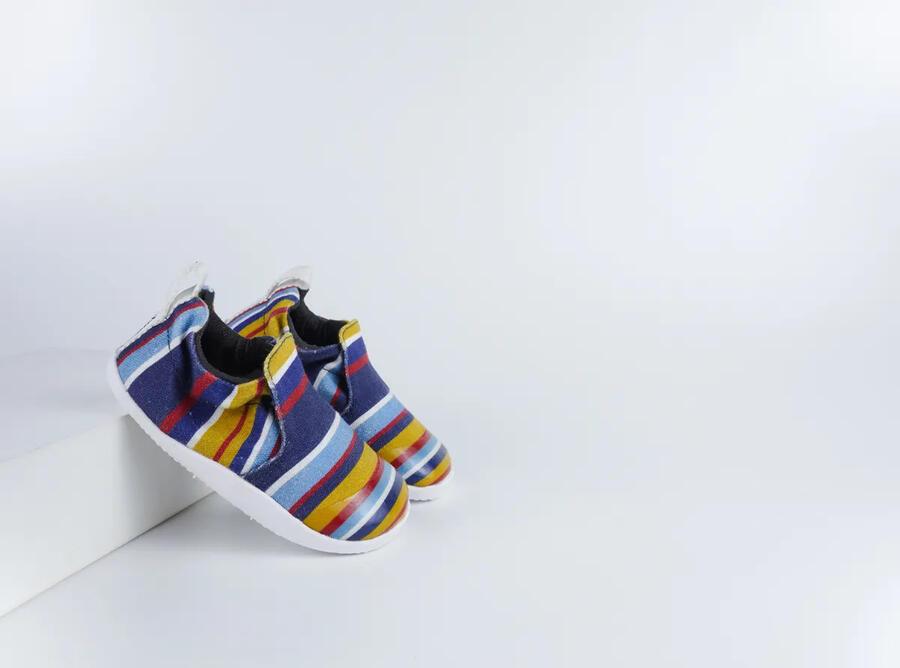 Bobux - Scamp - Navy Stripe