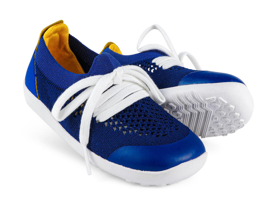 Bobux - Step Up - Play Knit- Blueberry Yellow