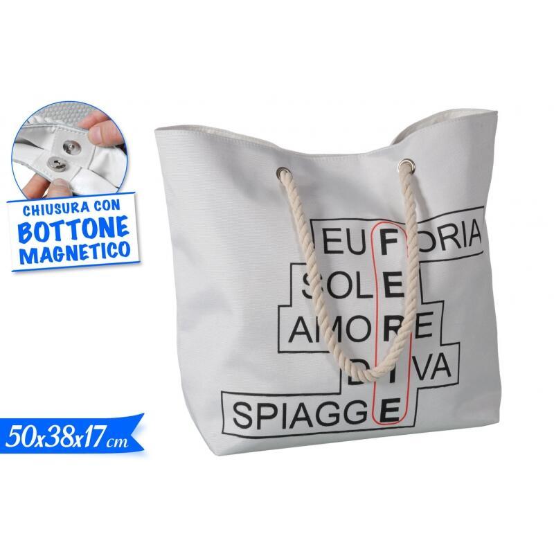 BORSA MARE CHIUSURA CON BOTTONE MAGNETICO 50 X 38 X 17 CM