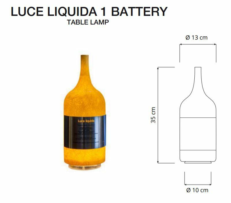 Lampada Ricaricabile da Tavolo LUCE LIQUIDA 1 Collezione Battery di In-es.artdesign, Varie Finiture - Offerta di Mondo Luce 24