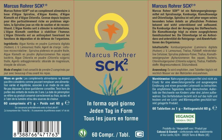 SCK2® Marcus Rohrer 60 compresse