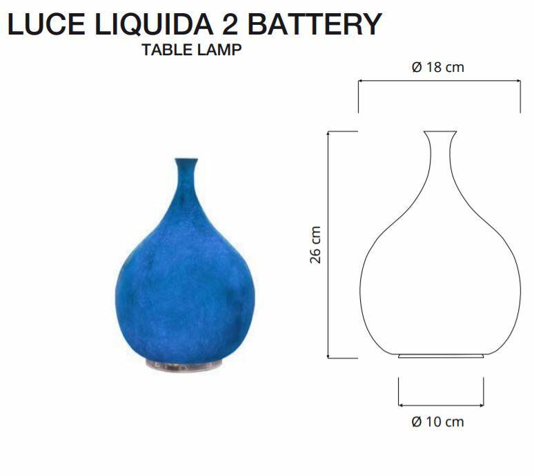 Lampada Ricaricabile da Tavolo LUCE LIQUIDA 2 Collezione Battery di In-es.artdesign, Varie Finiture - Offerta di Mondo Luce 24