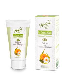 HUILERIE Crema Mani Calendula & Bisabololo - Delicata - Con ingredienti Biologici