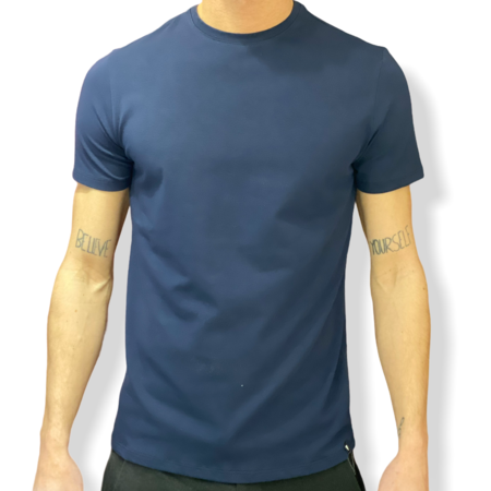 WHY NOT BRAND - T SHIRT BLU SLIM FIT T54