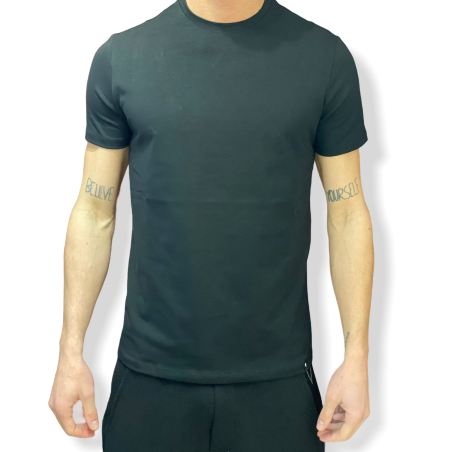 WHY NOT BRAND - T SHIRT NERA SLIM FIT T54