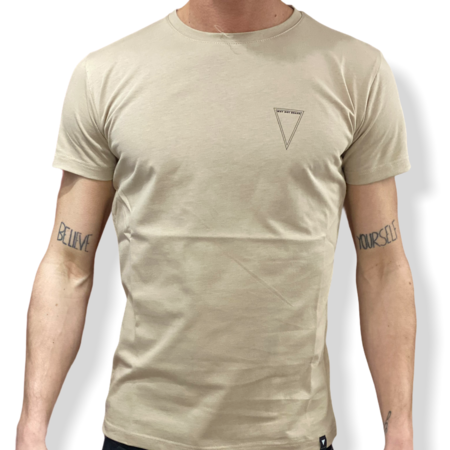 WHY NOT BRAND - T SHIRT BEIGE LOGO T29