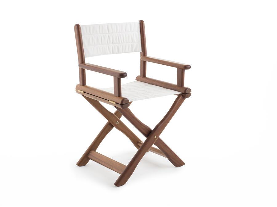 Poltrona regista pieghevole Mod. Teti in legno di frassino 55x46xh91