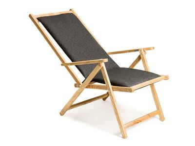 Sdraio reclinabile e richiudibile in frassino con telo e cuscino intercambiabili Mod. Demetra Cuscino