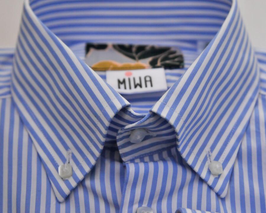 Camicia riga 3 mm azzurro