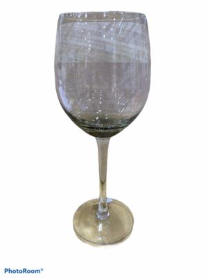 set 6 Calici vetro grigio cristallo
