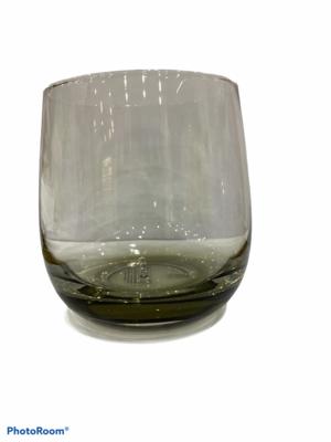 set 6 bicchieri acqua vetro grigio cristallo