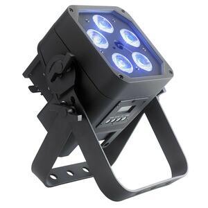 Contest Lighting - IPair5x12Six - Proiettore PAR cubo LED, 5 x 12W 6-in-1, IP65, AirDMX, a batteria