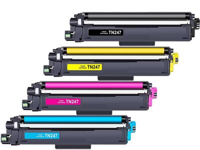SET TONER COMPATIBILI BROTHER TN247 (NERO - 247, CIANO - 247, MAGENTA - 247, GIALLO - 247)