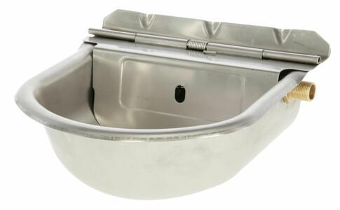 Abbeveratoio in acciaio inox con galleggiante