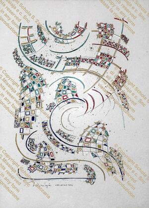Interpretazione planimetrica di Venezia in astratto