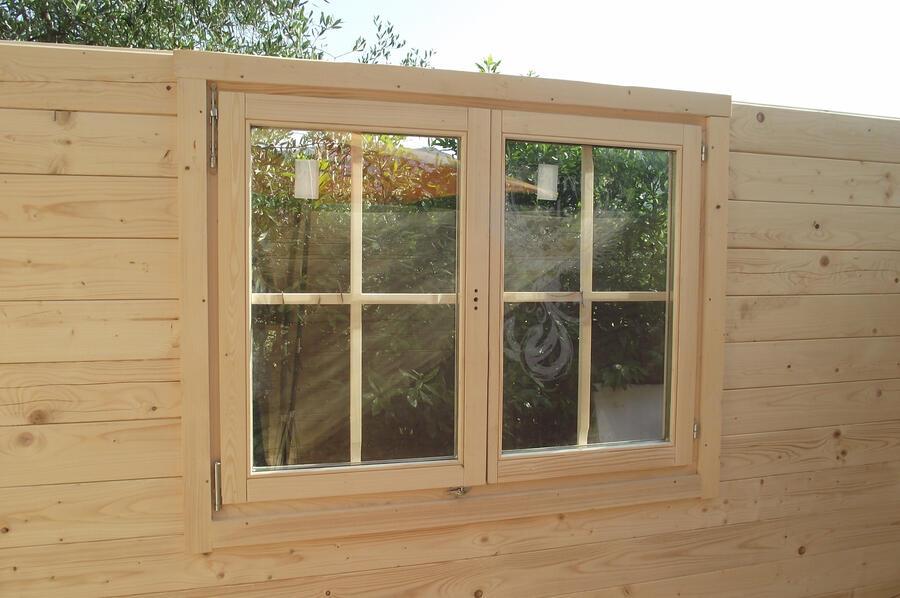 Casetta in legno 5,00 m x 5,00 m - Mod. Zoe - 44 mm